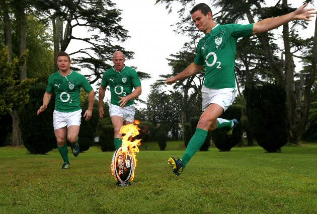 Brian O'Driscoll, Paul O'Connell and Jonathon Sexton 24/9/2012