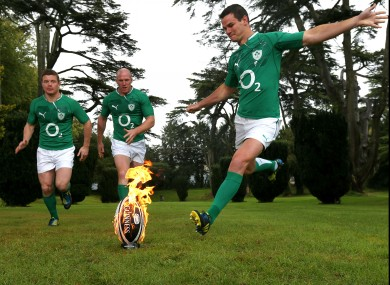 Brian O'Driscoll, Paul O'Connell and Jonathan Sexton launched the Guinness Series yesterday.