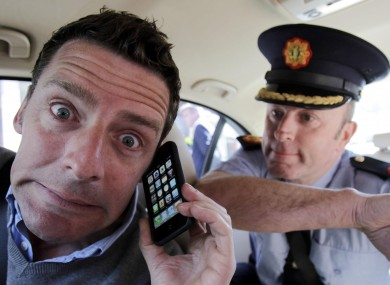 File photo of actor Tom O'Sullivan (left) and Assistant Garda Commissioner for Traffic John Twomey