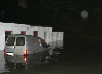 Flooding in the Kilmainham area of Dublin in 2010.