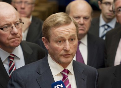 Enda Kenny at the Fine Gael think-in in Knockranny House Hotel in Westport last night