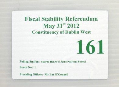 Ireland voted on the Fiscal Treaty on 31 May.