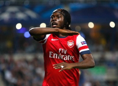 Gervinho: on the mark again.