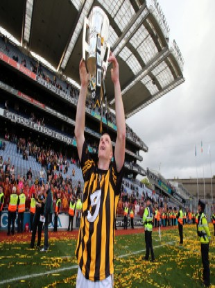 Henry Shefflin celebrating after yesterday's match.