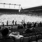 Thousands of supporters gather at Anfield around a pitch full of flowers for a ceremony of remembrance on 22 April 1989 for victims of Hillsborough (Photo: PA/PA Archive/Press Association Images)