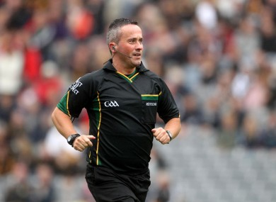 Westmeath referee James McGrath.