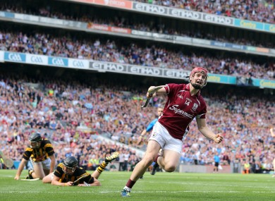 Joe Canning celebrates scoring the opening goal