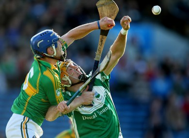 Clonoulty's John O'Keeffe and Seamus Callanan of Drom & Inch were in opposition last night.