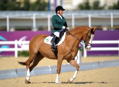 Ireland's Eilish Byrne competes with horse Youri during the Equestrian Dressage Individual Freestyle Test Grade II at Greenwich Park.