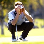 2004: Ian Poulter reads a putt at Oakland Hills.