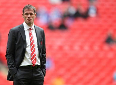 Jamie Carragher: out of favour.