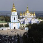 Gold is highly malleable and flexible. Gold can be beaten into thin sheets, only a few millionths of an inch thick. These sheets, known as gold leaf, are displayed on buildings throughout the world, such as St. Michael's Cathedral in Kiev, Ukraine. Pic: AP Photo/Sergei Chuzavkov