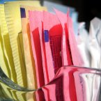 Saccharin, the artificial sweetener in products like 