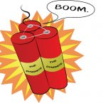 Alfred Nobel accidentally discovered dynamite in 1833.