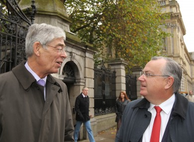 Pictured (LtoR) Chairman of IBRC and the former Anglo Irish Bank, Alan Dukes and Chief Executive Officer Mike Aynsley