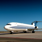 This is Big Flo, the 170-passenger Boeing 727, ahead of the experiment.