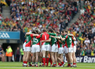 The Mayo team will have a new coach next year in Donie Buckley.
