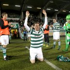 An emotional Gary Twigg of Shamrock Rovers after his last home appearance. Credit ©INPHO/Ryan Byrne