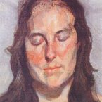 The 2002 painting 'Woman with Eyes Closed' by Lucian Freud. (AP Photo/Police Rotterdam)