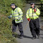 Welsh Police officers search in Machynlleth for missing April Jones, 5, from Machynlleth. Image: Peter Byrne/PA Wire