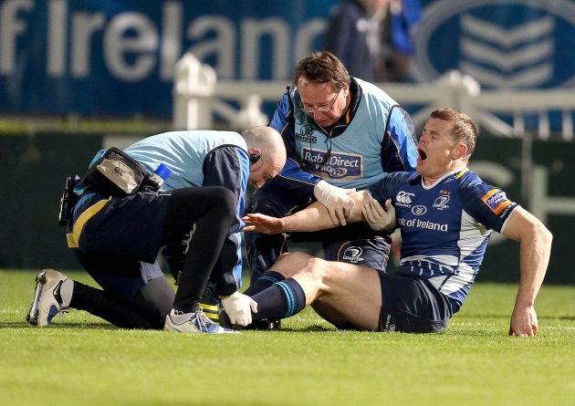 Brian O'Driscoll down injured 27/10/2012