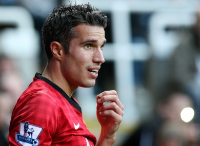 Van Persie in action against Newcastle.