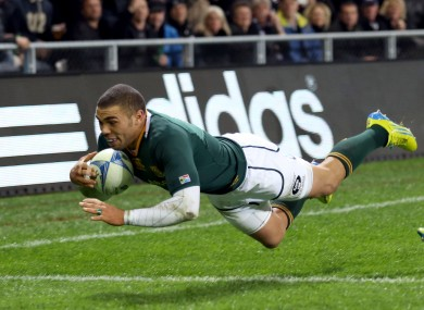 Bryan Habana will hope to end the Rugby Championship campaign on a flying note.