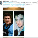 Is Quinn Roux Elvis in disguise? Cian Healy thinks so.