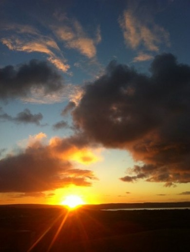 Weather looks promising, and check out this gorgeous Co. Clare sunrise