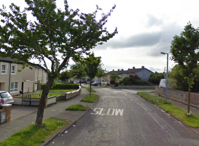 Cushlawn Estate in Tallaght, where a man was arrested last night when found to be in possession of a suspicious device.