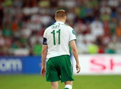 Damien Duff: bowing out.