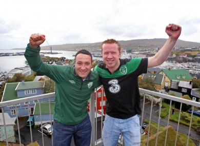 David Cooper and Eoin McCann from Dublin in Torshavn today.