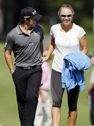 McIlroy and girlfriend  Caroline Wozniacki. File photo.