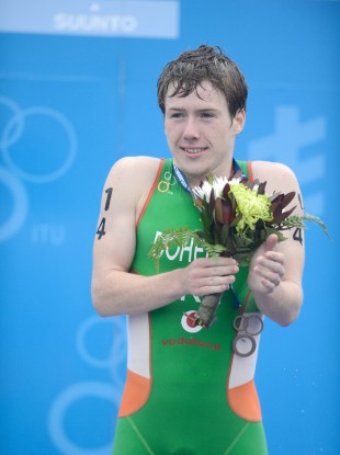 Con Doherty celebrates his World Junior Bronze Medal.