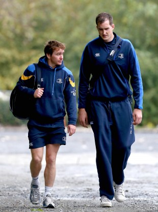 Eoin Reddan and Devin Toner at UCD this week.