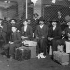Group of Italian arrivals ready to be processed in Ellis Island in June 1908. (Lewis Wickes Hine/Polfoto/Press Association Images)