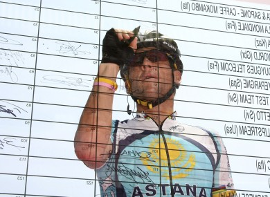 Lance Armstrong: facing questions.