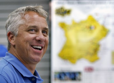 Three-time winner of the Tour de France, Greg LeMond.