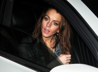 Lindsay Lohan, pictured in a totally different car to the one we're talking about