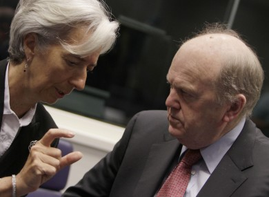 IMF managing director Christine Lagarde and Finance Minister Michael Noonan (File photo)