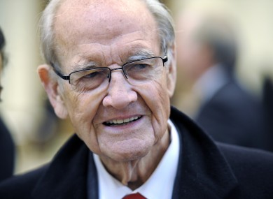 George McGovern pictured last year