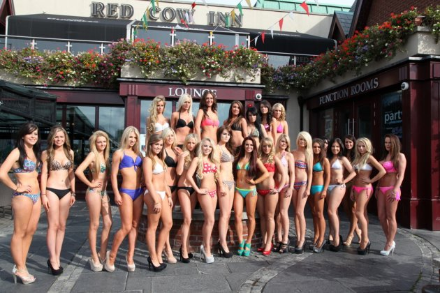Miss Bikini Ireland Finalists 2012 Press Launch