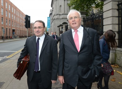 Brendan McDonagh, NAMA CEO and Frank Daly, Chairman of NAMA on their way to the meeting this afternoon