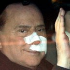 After the incident in which Berlusconi was assaulted with a small statuette of a church. 