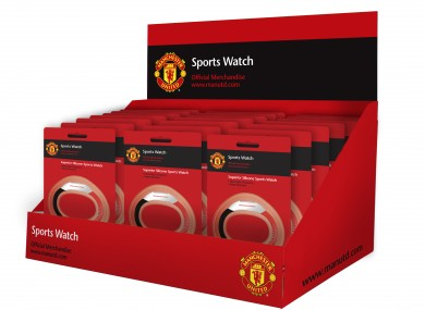 Pride Watches are producing watches for Manchester Utd (pictured) and Liverpool, going on sale from mid-November.