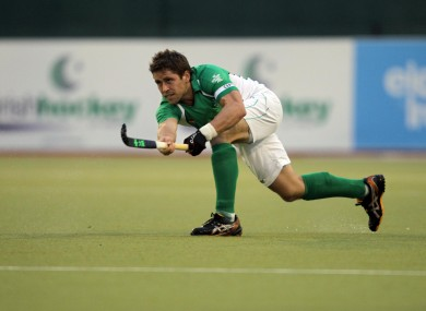 Irish captain Ronan Gormley.