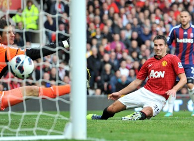 Van Persie has been in excellent form since signing for Man United.