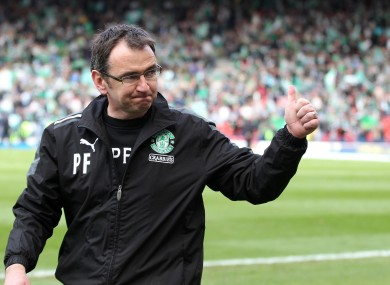 Thumbs up: Pat Fenlon. 