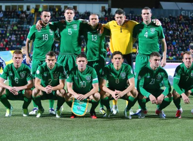 The Irish starting team. 
