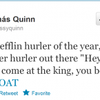 Tomás Quinn bestows a far greater honour than a mere All-Star award on Henry Shefflin - comparing him to one of the coolest characters in The Wire.